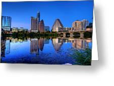 A Beautiful Austin Evening Greeting Card
