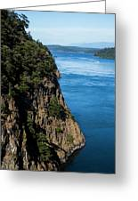 A Beautiful Landscape At Deception Pass Greeting Card