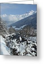 A Beautiful Winterday - Austrian Alps Greeting Card