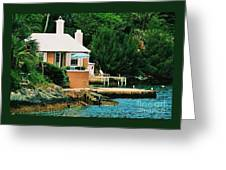 A Cottage In Bermuda # 1 Greeting Card