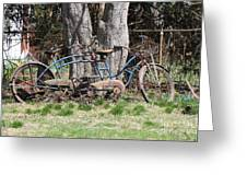 A Bicycle Built For Two Greeting Card