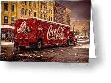 A Big Red Truck In The Barrio Greeting Card