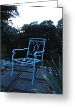 A Blue Chair Greeting Card