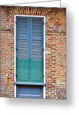 A Blue Door In New Orleans Greeting Card
