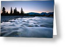 A Blue River. Greeting Card
