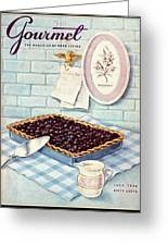 A Blueberry Tart Greeting Card