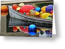 A Boat Full Of Color Greeting Card
