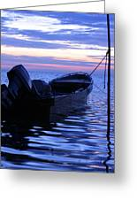 A Boat In The Morning Greeting Card