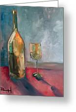 A Bottle Of White... Greeting Card