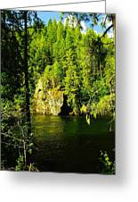 A Boulder Across The Seleway River  Greeting Card
