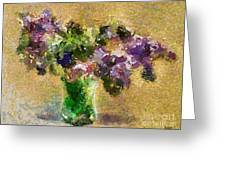 A Bouquet Of Lilac Greeting Card