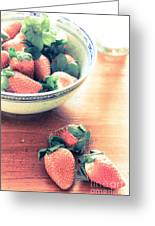 A Bowl Of Strawberries Greeting Card