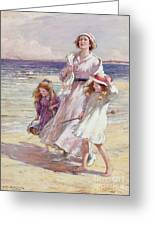 A Breezy Day At The Seaside Greeting Card
