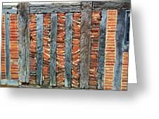 A Brick Wall Design Greeting Card