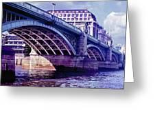 A Bridge In London Greeting Card