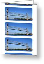 A Bridge Opening Greeting Card