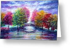 A Bridge To Cross Greeting Card