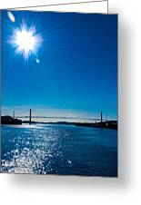 a Bridge with Flare Greeting Card