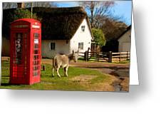 A British Street Scene Greeting Card