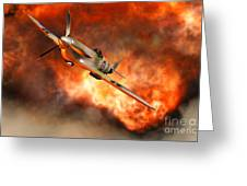 A British Supermarine Spitfire Bursting Greeting Card