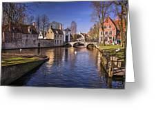 Blue Bruges Greeting Card