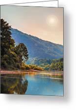 A Buffalo River Morning  Greeting Card by Bill Tiepelman