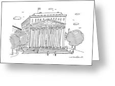 A Building In Washington Dc Is Shown Greeting Card
