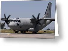 A Bulgarian Air Force Alenia C-27j Greeting Card