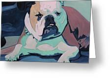 A Bulldog In Love Greeting Card