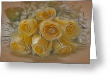 A Bunch Of Yellow Roses Greeting Card