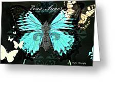 A Butterfly For Terra Greeting Card by Lynda Payton
