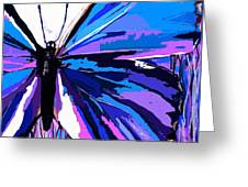 A Butterfly So Blue Greeting Card