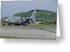A C-17 Globemaster IIi Of The U.s. Air Greeting Card