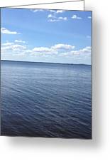 A Calm Pamlico Sound Greeting Card by Joan Meyland