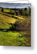 A Castle In The Landscape Greeting Card