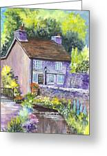 A Castleton Cottage In Uk Greeting Card