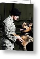 A Caucasian, Female Air Force Security Greeting Card