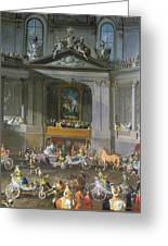 A Cavalcade In The Winter Riding School Of The Vienna Hof To Celebrate The Defeat Of The French Greeting Card