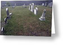 A Cemetery In New Salem Greeting Card