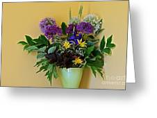 A Chanticleer Spring Bouquet Greeting Card