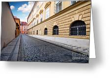 A Charming Street In Prague Greeting Card