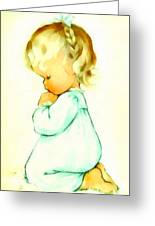 A Childs Prayer Greeting Card by Charlotte Byj