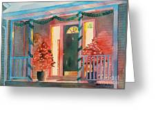 A Christmas At Home, House Prints, Porch Prints, House Paintings, House Prints, Christmas Paintings, Greeting Card