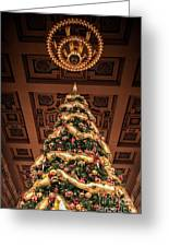 A Christmas Tree At Union Station Greeting Card