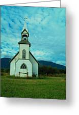A Church In British Columbia   Greeting Card