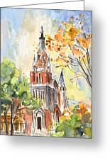 A Church In Our Street In Budapest Greeting Card