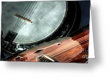 A Classic Pairing Digital Guitar And Banjo Art By Steven Langston Greeting Card