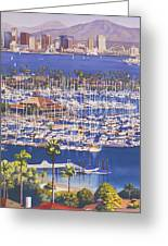 A Clear Day In San Diego Greeting Card