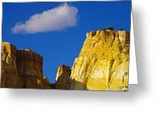 A Cloud Over Orange Rock Greeting Card