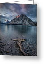 A Cloudy Day In Bow Lake Greeting Card